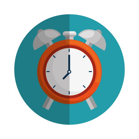 clock alarm isolated icon vector illustration design Illustration