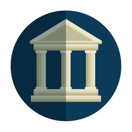court building isolated icon vector illustration design Иллюстрация