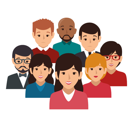businesspeople character avatar icon vector illustration design 向量圖像