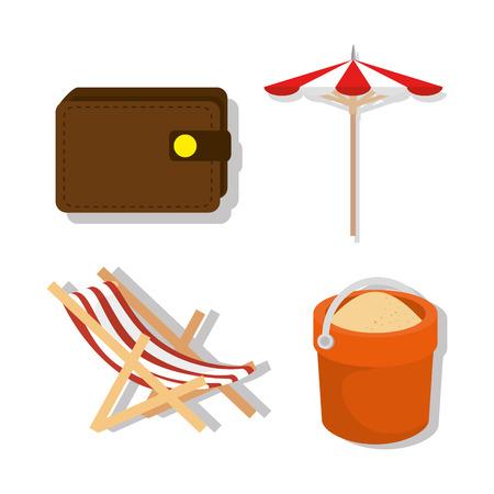 vacations travel holidays icons vector illustration design Illustration