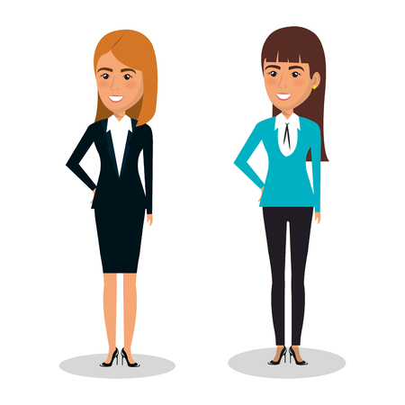 executive assistants: businesspeople avatars characters icon vector illustration design