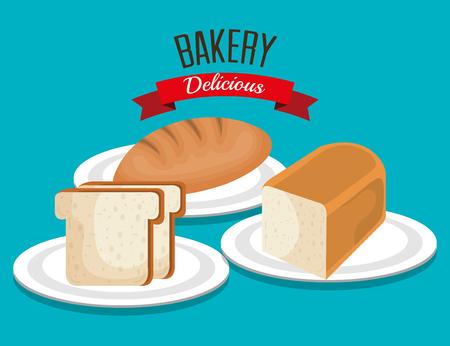 produits céréaliers: pain délicieux produit icône vector illustration design Illustration