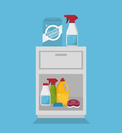furniture store: laundry room flat icons vector illustration design Illustration