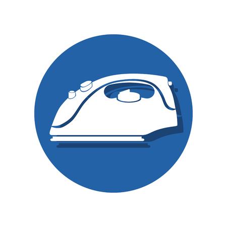 iron laundry appliance icon vector illustration design