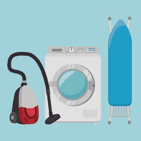 laundry room flat icons vector illustration design Illustration