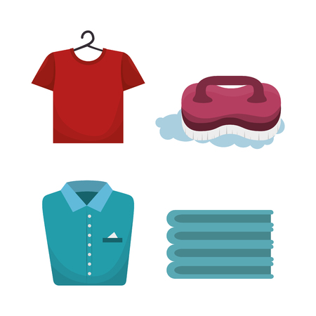 laundry room flat icons vector illustration design Illustration