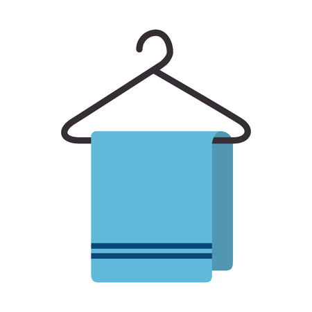 towel hanging isolated icon vector illustration design