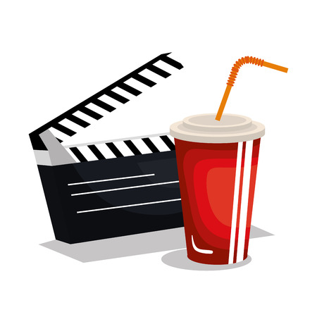Cinema entertainment flat icons vector illustration design.