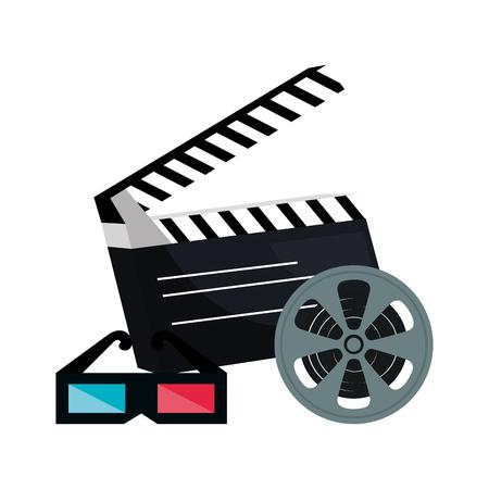 cinema entertainment flat icons vector illustration design