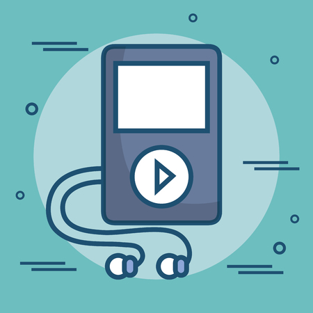 MP3 player isolated icon vector illustration design.