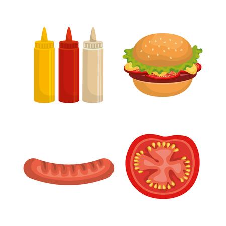 delicious picnic set icons vector illustration design