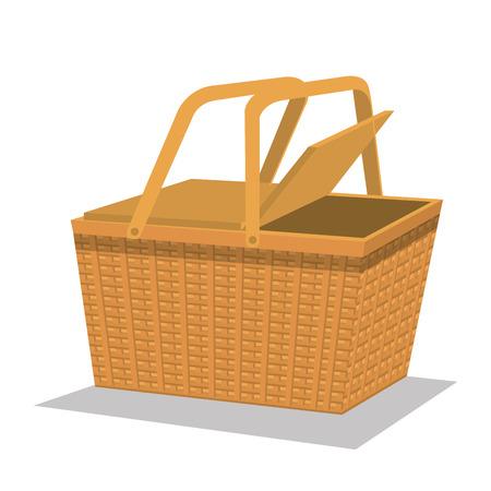 Picknick-Korb isoliert Symbol Vektor-Illustration, Design,