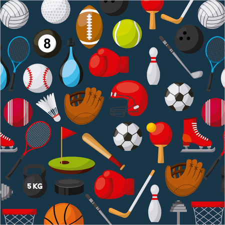 Sport Related Icons Background Colorful Design Vector Illustration