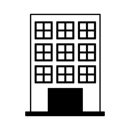 stage door: building exterior front isolated icon vector illustration design
