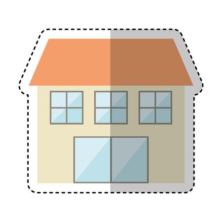 prestige: house exterior isolated icon vector illustration design Illustration