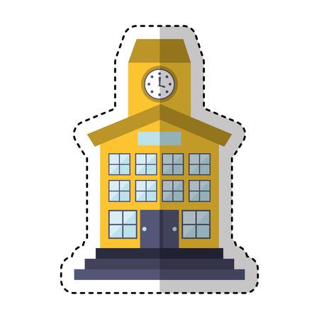 school building front icon vector illustration design