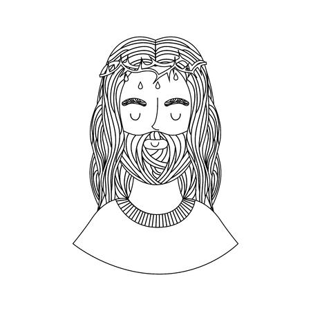 jesuschrist: jesuschrist character religious icon vector illustration design