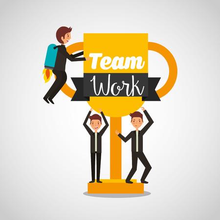 businesspeople teamwork avatars characters icon vector illustration design Illustration