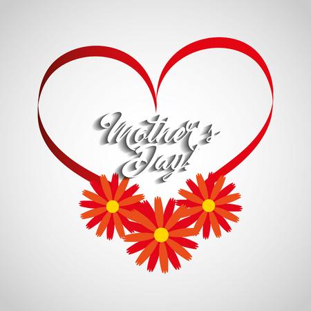 happy mothers day celebration card vector illustration design