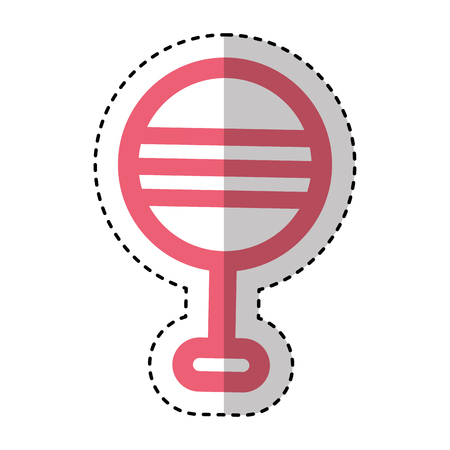 bell pacifier isolated icon vector illustration design