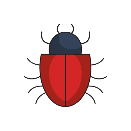 Bug icon over white background. cyber security concept. vector illustration Illustration
