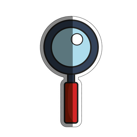 icons site search: Creative illustration concept of a magnifying glass icon over white background. vector illustration Illustration