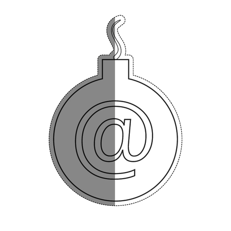 Graphic illustration concept of a bomb icon over white background. cyber secuirty design. vector illustration Illustration