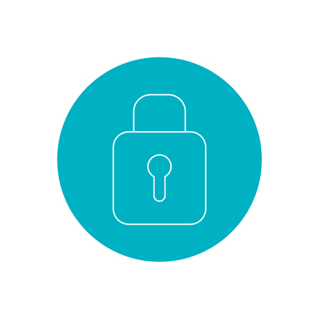 padlock icon over white background. vector illustration Illustration