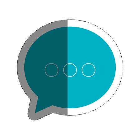 speech bubble icon over white background. vector illustration