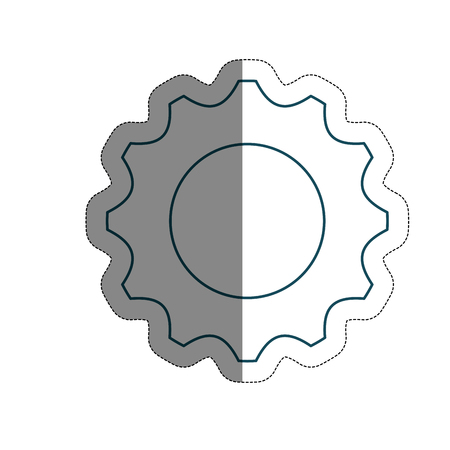 wheel spin: gear wheel icon over white background. vector illustration Illustration