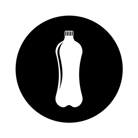 bottle plastic isolated icon vector illustration design Illustration