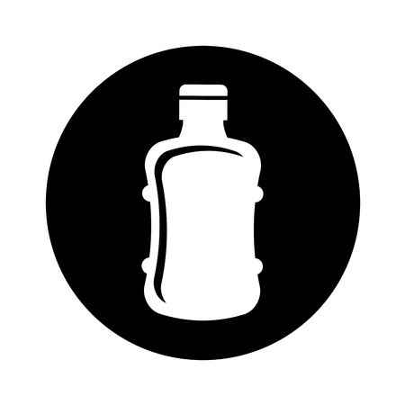 purified: bottle plastic isolated icon vector illustration design Illustration