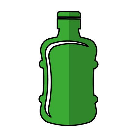 bottle plastic isolated icon vector illustration design Illustration