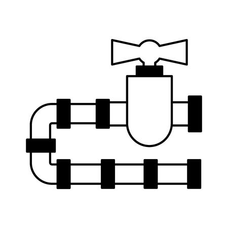 pipeline tap oil icon vector illustration design