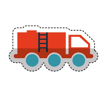 truck oil transport icon vector illustration design
