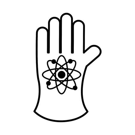 atomic glove isolated icon vector illustration design