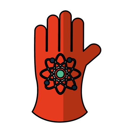 atomic glove isolated icon vector illustration design