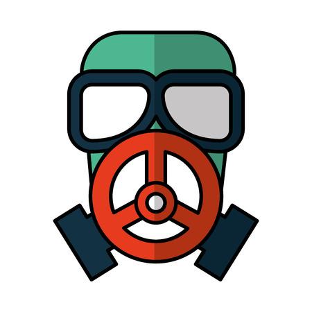 nuclear safety mask icon vector illustration design Illustration