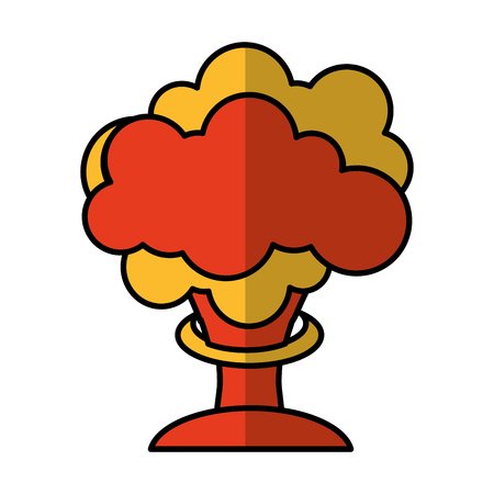 nuclear explosion isolated icon vector illustration design Illustration