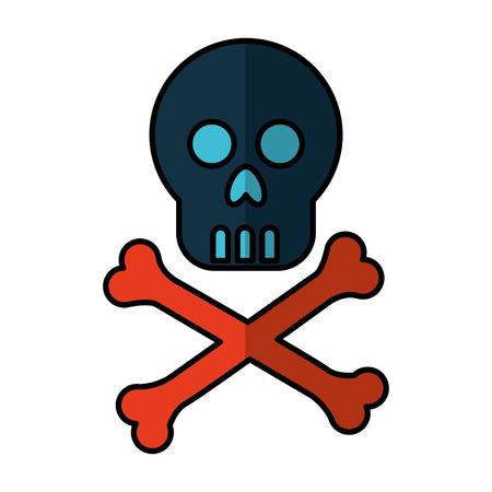 riesgo quimico: skull danger signal icon vector illustration design