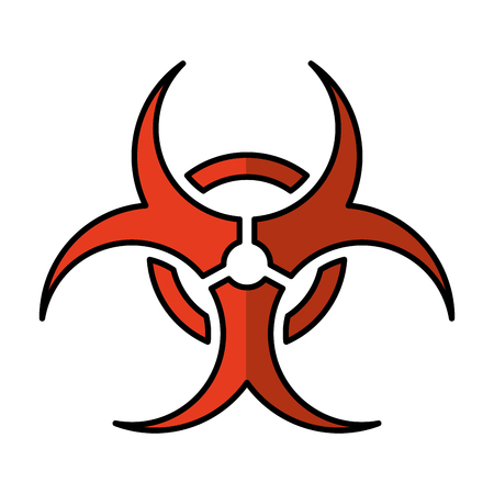 biohazard sign isolated icon vector illustration design