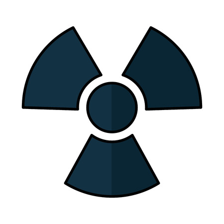 vector nuclear: nuclear sign isolated icon vector illustration design