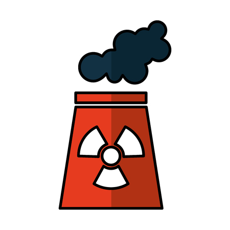 nuclear plant chimney icon vector illustration design Illustration