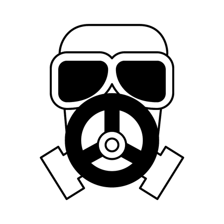 nuclear safety mask icon vector illustration design Illustration