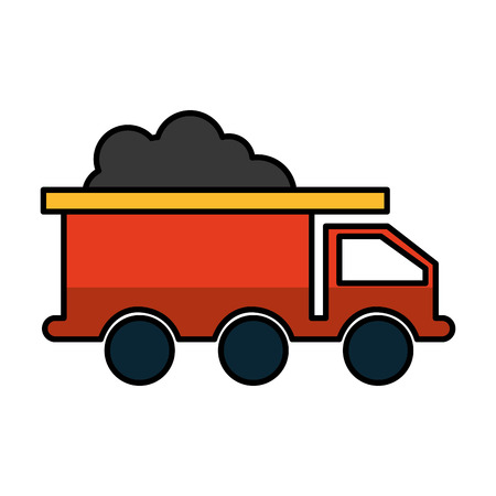 mine truck isolated icon vector illustration design Illustration