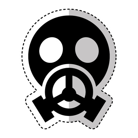 vector nuclear: nuclear safety mask icon vector illustration design Illustration
