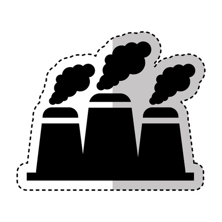 nuclear plant chimney icon vector illustration design Ilustração
