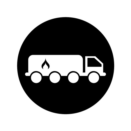 truck driver: truck oil transport icon vector illustration design