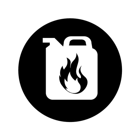 gallon tank oil icon vector illustration design Illustration