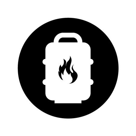 barrel tank oil icon vector illustration design